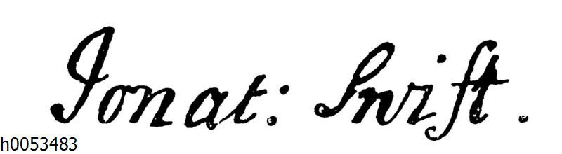 Jonathan Swift: Autograph