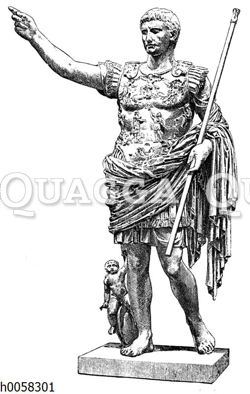 Kaiser Augustus. Statue im Vatikan