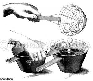 Frittieren von Kartoffeln