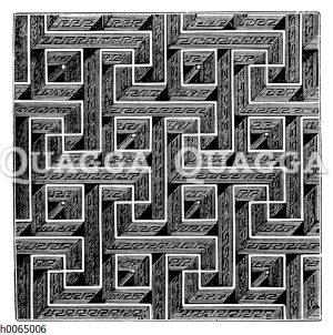 Labyrinth als Textilmuster