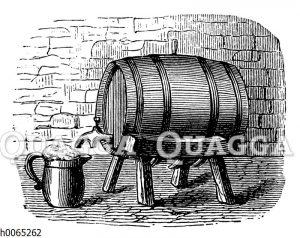 Bierfass im Keller
