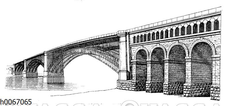 Stahlbrücke über den Mississippi bei St. Louis