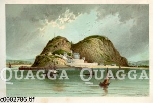 Dumbarton Castle am Ufer des Flusses Clyde