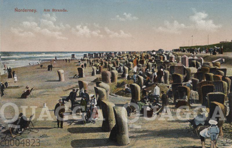 Norderney. Szene am Strand