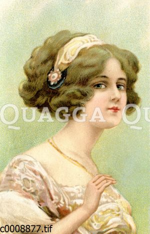 Junge Frau mit Diadem