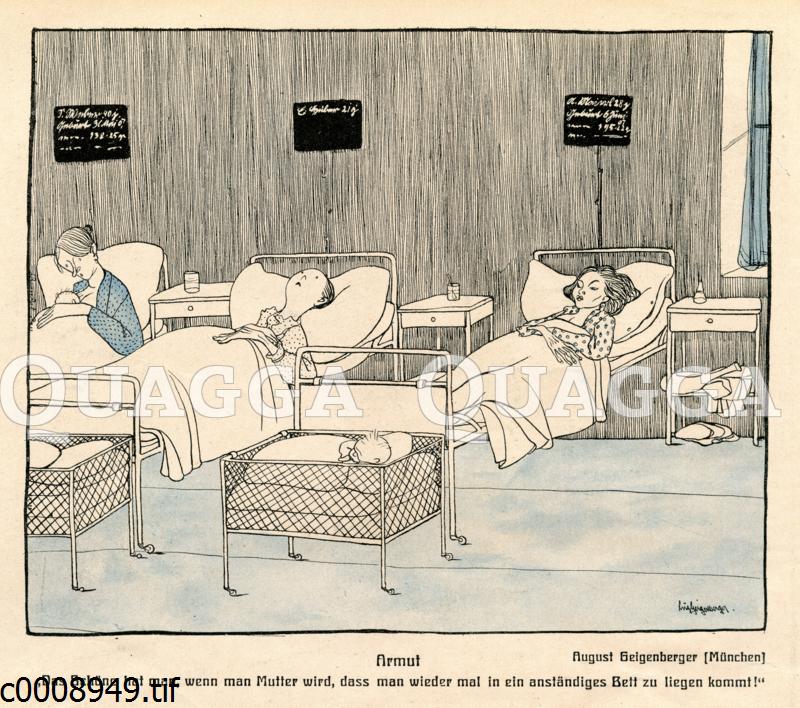 Arme Frauen auf der Wöchnerinnenstation