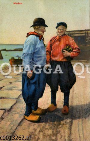 Zwei ältere Männer auf der Insel Marken