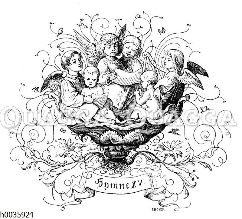 Engel singen eine Hymne