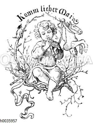 Vignette zum Kinderlied 'Komm lieber Mai'