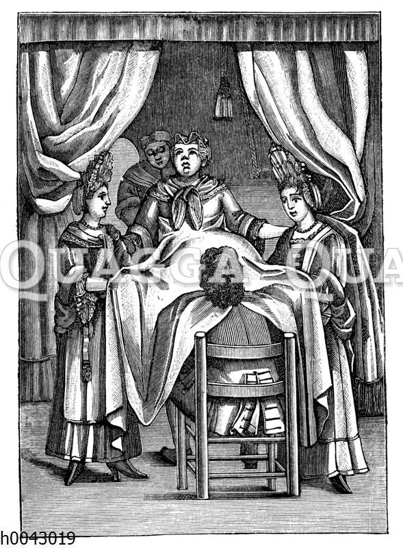 Holländischer Geburtshelfer des 17. Jahrhunderts
