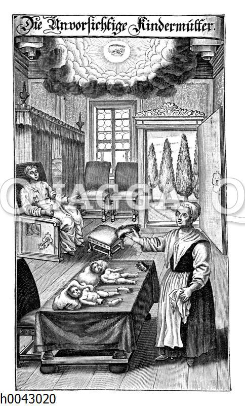 Deutsche Hebamme aus dem Anfang des 18. Jahrhunderts