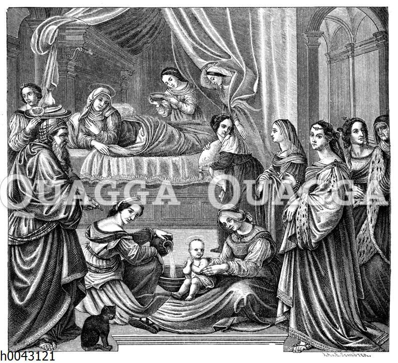 Wochenstube einer vornehmen Sienesin aus dem 16. Jahrhundert