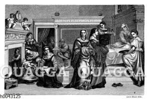Wochenstube einer vornehmen Florentinerin aus dem 16. Jahrhundert