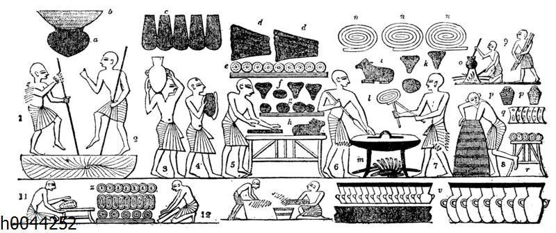 Bäcker und Köche im alten Ägypten
