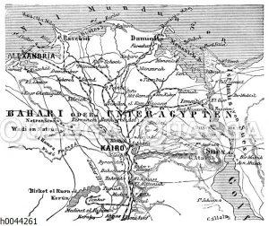 Karte von Unterägypten