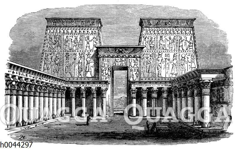 Tempel zu Edsu: Vorhof mit Säulenhalle