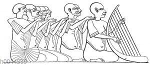Ägyptischer Harfenspieler