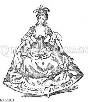 Frauenmode in Frankreich kurz vor Ausbruch der Französischen Revolution