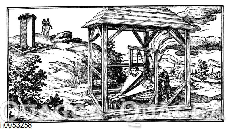 Wetterführungsschacht eines alten Bergwerks