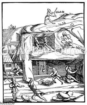 Bergwerksbetrieb im 16. Jahrhundert