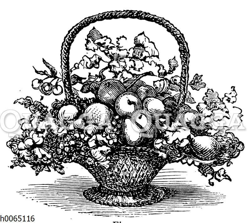 Obstkorb mit Blumen