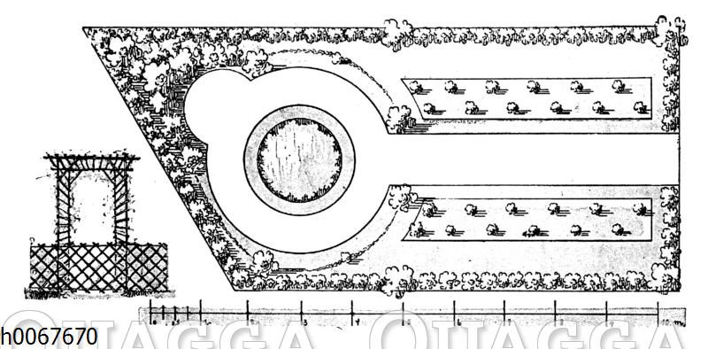 Gartenplan: Rosengarten