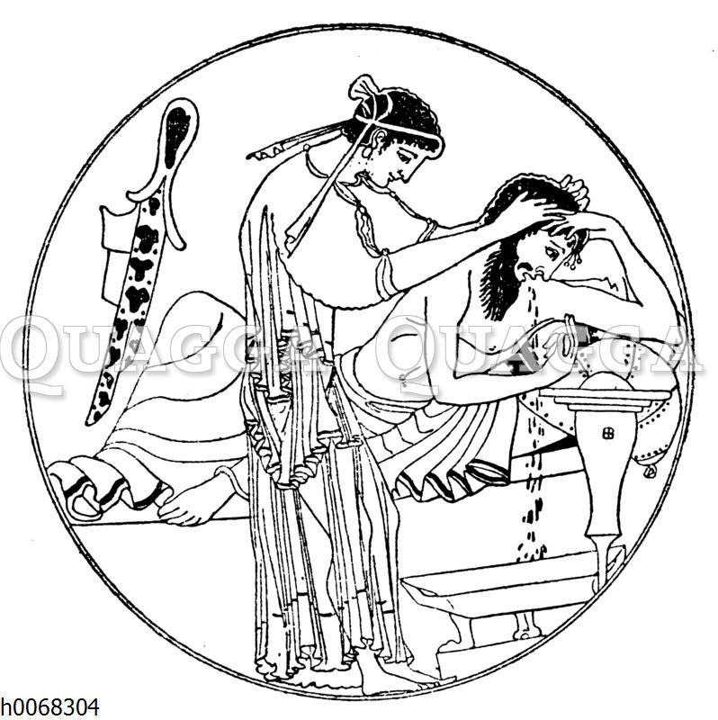 Satire auf das römische Schlemmerleben
