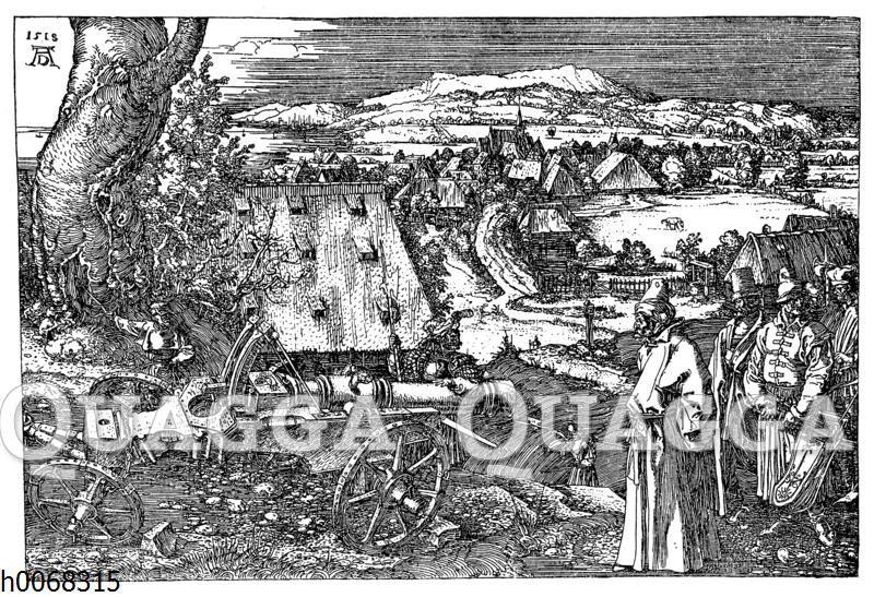 Albrecht Dürer: Gefangene Türken betrachten eine Kanone