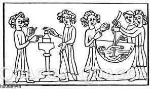 Hexenprobe: Schwur und Wasserprobe