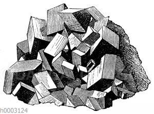 Druse von Spat-Eisenstein-Kristallen