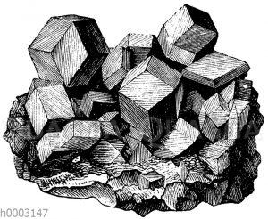 Kristalldruse von Magneteisenstein