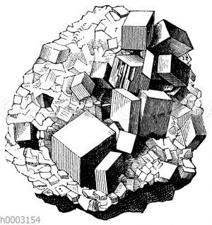 Kristalldruse von Bleiglanz