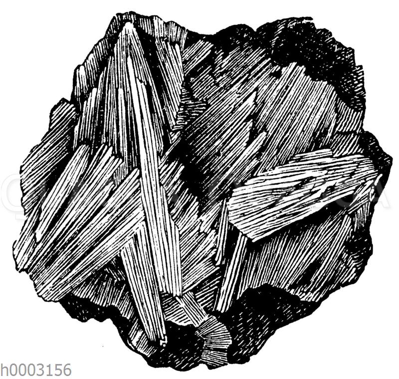 Strahlig-blättriger Pyrolusit