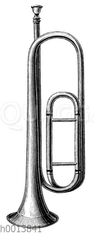 Naturtrompete mit Stimmzug