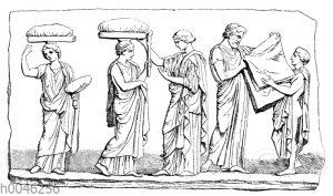 Frauengruppe aus dem Parthenonfries