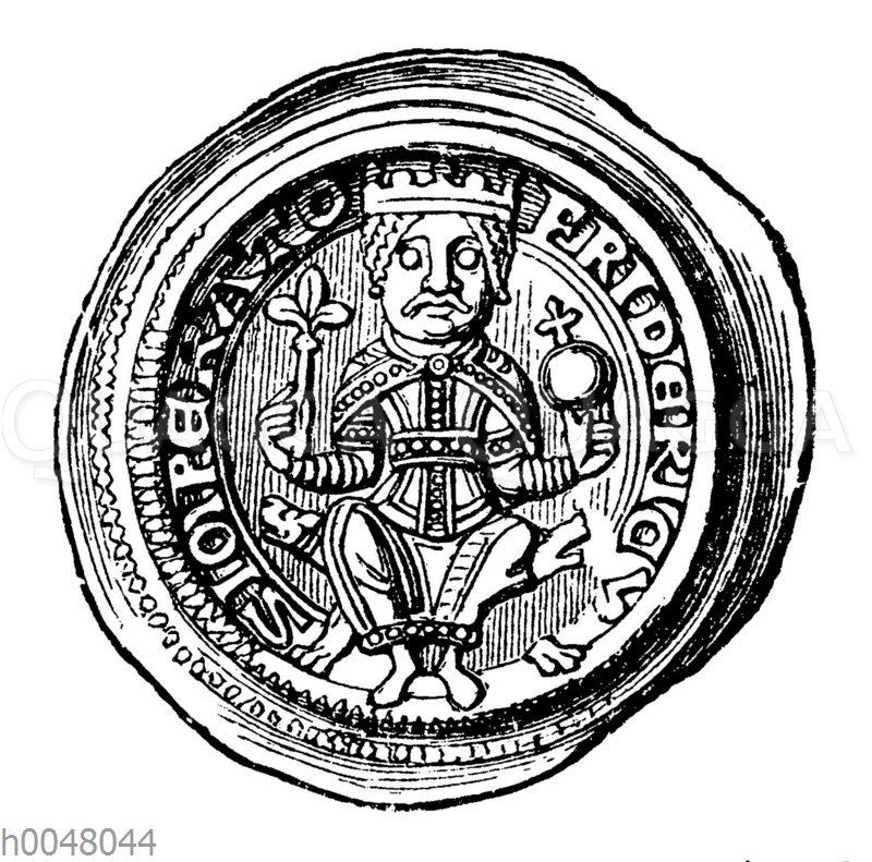 Kaisermünze: Brakteat Friedrichs I. Barbarossa (silber)