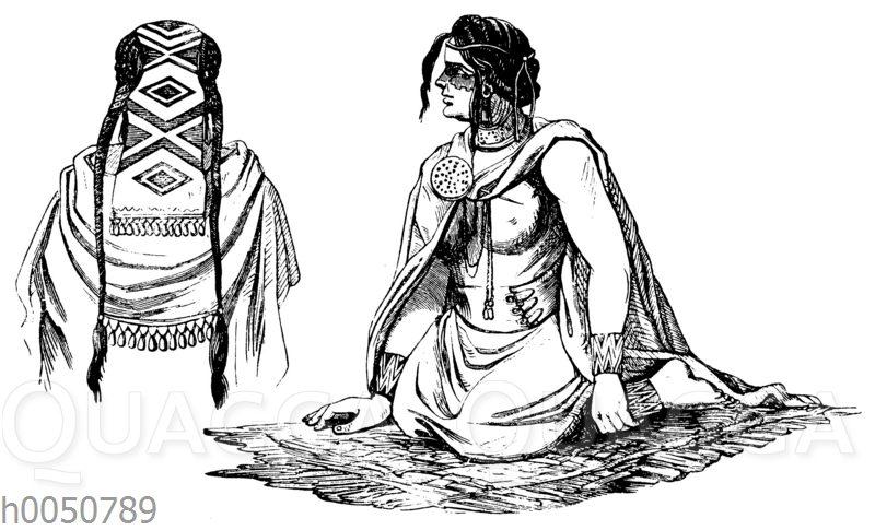 Araukanerinnen: Kopfputz