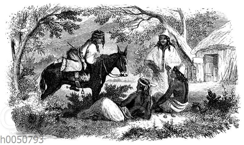 Pehuelches-Indianer