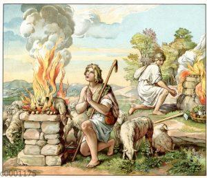 Kain und Abels Opfer