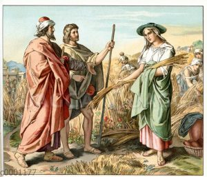 Ruth liest auf dem Acker des Boas Ähren auf