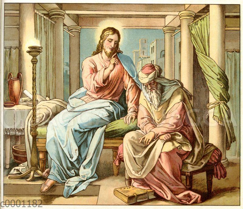 Jesus im Gespräch mit Nikodemus