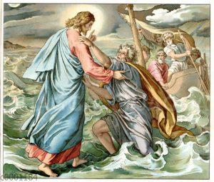 Jesus wandelt auf dem Meer