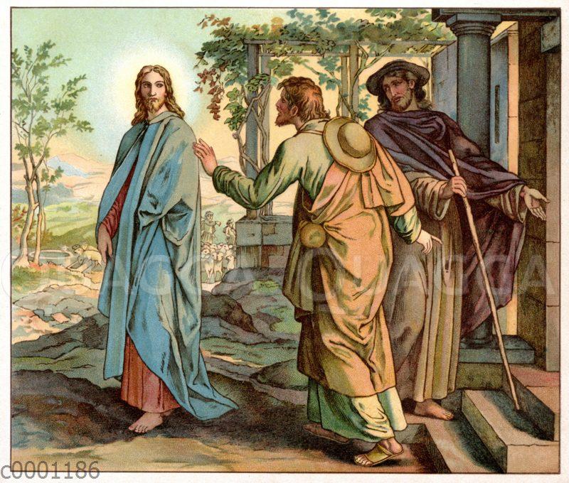 Christi Offenbarung auf dem Weg nach Emmaus