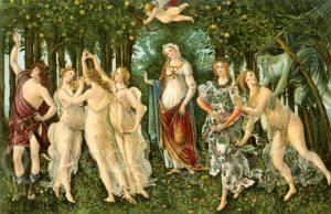Primavera. Nach dem Gemälde von Sandro Botticelli