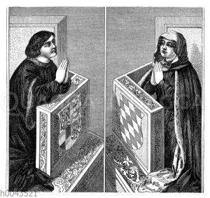 Friedrich I. und seine Gemahlin Elisabeth von Bayern (1417)