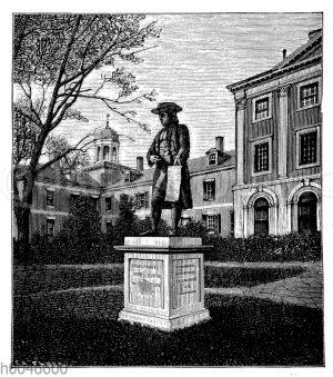 Penn-Denkmal und Penn-Hospital in Philadelphia
