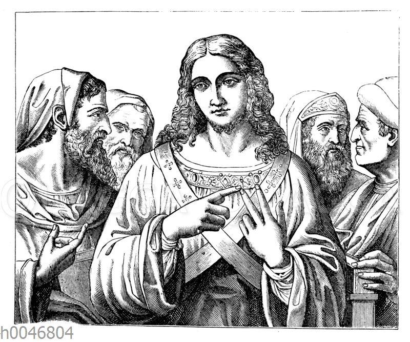 Christus unter den Schriftgelehrten. Gemälde