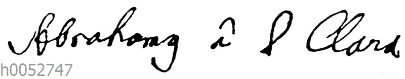 Abraham a Santa Clara: Autograph