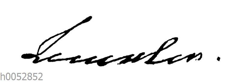 Herzogin Amalia von Weimar: Autograph