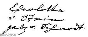 Charlotte von Stein: Autograph
